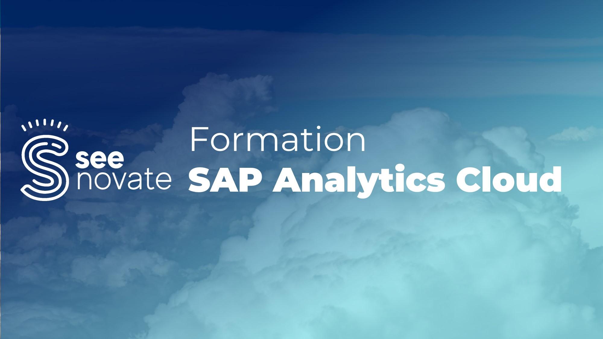 Formation SAP Analytics Cloud – SAC